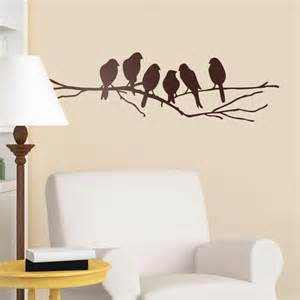 Bird Tree Wall Sticker vinilos de animales p 225 jaros animales salvajes delfines