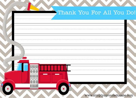 Thank You Letter For Firefighter A Patriotic Thank You Simply Sprout