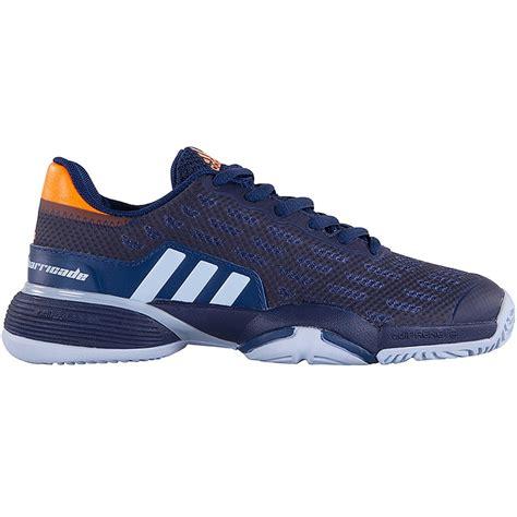 adidas barricade 2017 xj junior tennis shoe blue orange