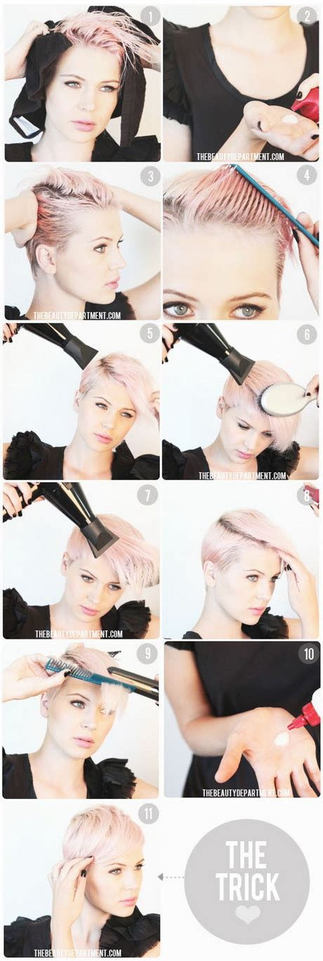 how to cut a pixie cut step by step ways to style a pixie haircut