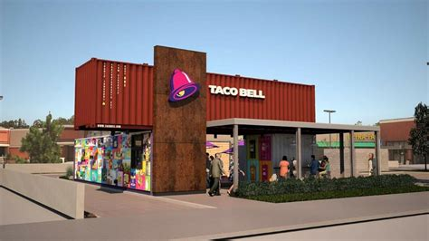up and coming cities in california taco bell shipping container restaurant is coming to