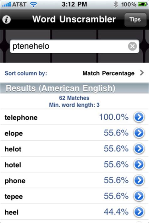 unscramble words scrabble solver word unscrambler app for iphone utilities