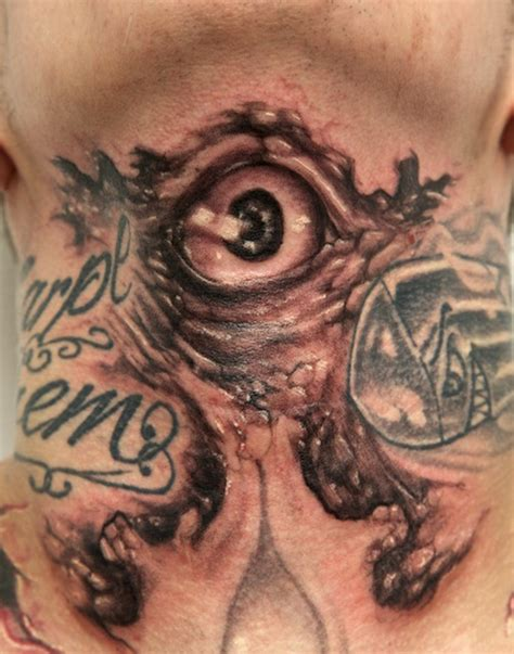 evil tattoo on neck evil eye tattoo on neck tattooshunt com