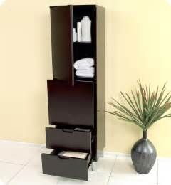 Espresso Bathroom Cabinet 15 75 Quot Fresca Fst1040es Espresso Bathroom Linen Cabinet W 4 Storage Areas Side Cabinets