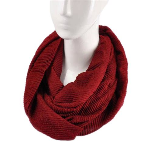 fashion knitted snood warm winter two tone cowl