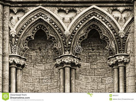 arches at the side of ely cathedral royalty free