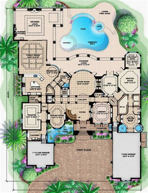 mediterranean home floor plans awesome picture of mediterranean home floor plans