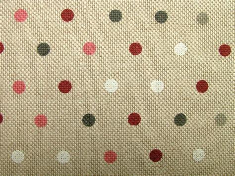 polka dot upholstery fabric polka dot spot natural linen look fabric curtains blinds