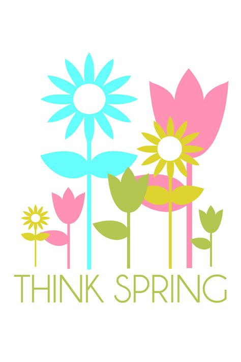 printable spring images think spring quotes quotesgram