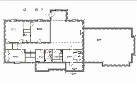 2000 square foot ranch floor plans h107 executive ranch house plans 2000 sq ft main 4 bedroom