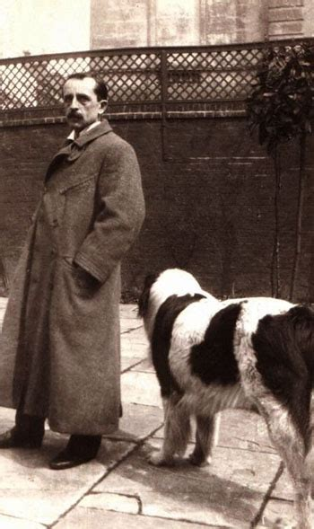 j m barrie photo of j m barrie with his dog luath