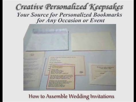 how to assemble wedding invitations how to assemble wedding invitations