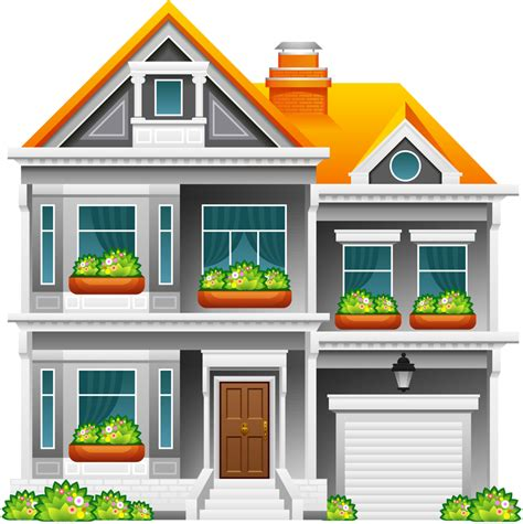 library  rich house clip art   png files