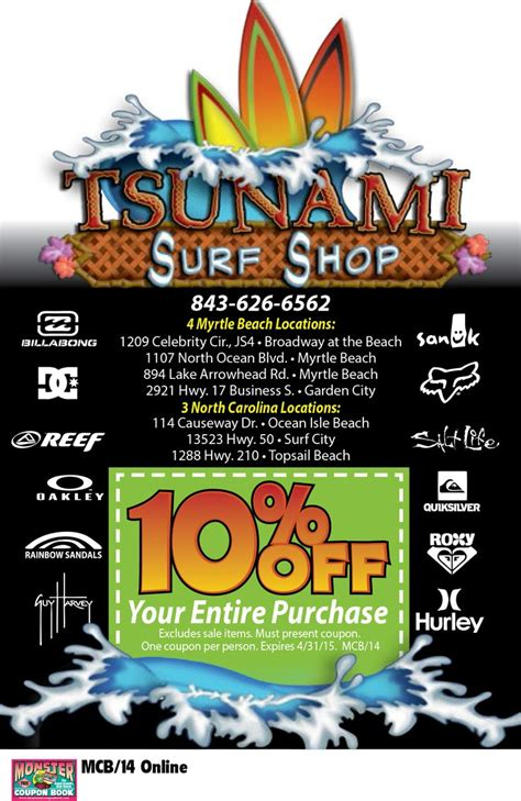 tsunami coupons myrtle beach