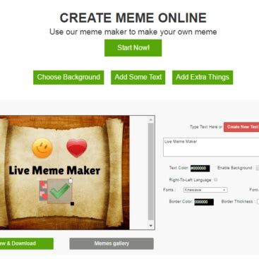 Meme Making Website - portfolios rashflash