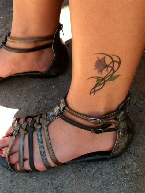 ankle tattoo i want it for real tattoos pinterest