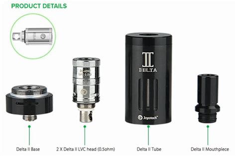Joyetech Delta 19 Atomizer 3 5ml Black Hitam 1 clearance joyetech delta ii sub ohm atomizer electronic cigarette rebuildable 3 5ml tank with 0