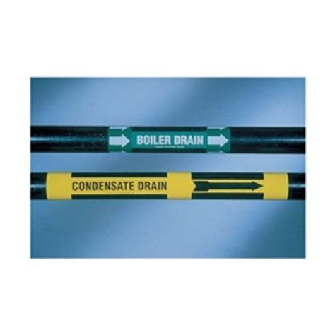 Brady 7061 1 Condensate 3 6 Yellow pipe marker low pressure condensate yel pricefalls