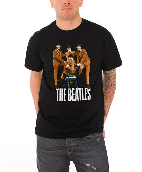 Tshirt The Beatles 5 the beatles t shirt official mens road yellow