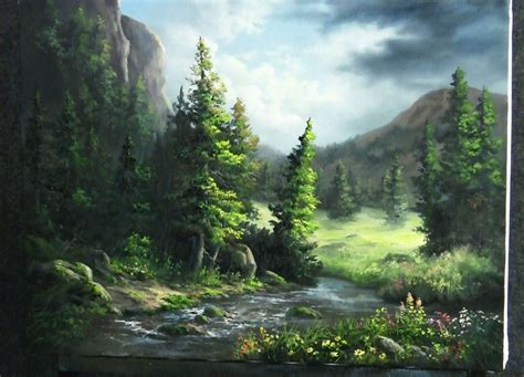 acrylic painting kevin paint with kevin hill wildflower mountains