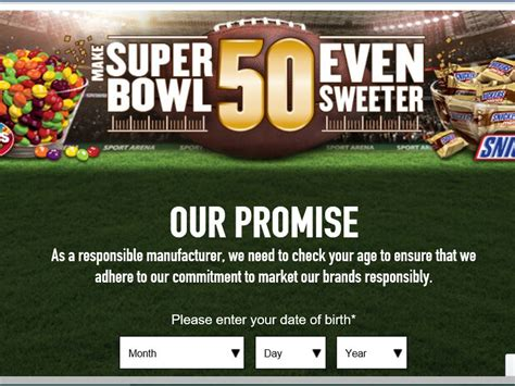 Win Super Bowl 2015 Tickets Sweepstakes - the mars chocolate make super bowl 50 even sweeter sweepstakes sweepstakes fanatics