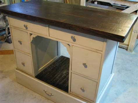 repurposed kitchen island ideas mesmerizing repurposed desk kitchen island using solid