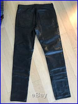 coach men's leather jeans size 34 | mens leather pants