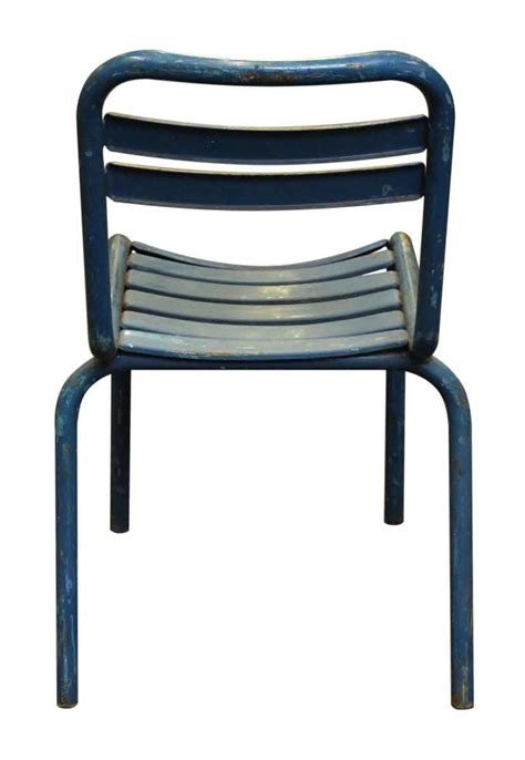 Tolix Bistro Chair Blue Metal Tolix Bistro Chair Olde Things
