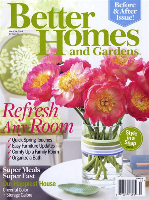 better homes and gardens magazine cover a and the