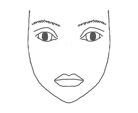 blank makeup template makeup template mugeek vidalondon
