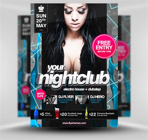 30 Amazing Free Flyer Templates From Flyerheroes Com Extras Free Nightclub Flyer Templates
