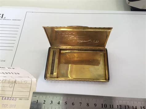 Cartier Import gelbgoldenes zigarettenetui cartier import marken