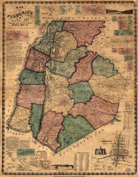 maryland map frederick county frederick county records
