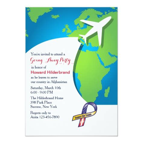 In Flight Going Away Party Invitation Zazzle Going Away Invitation Template Free