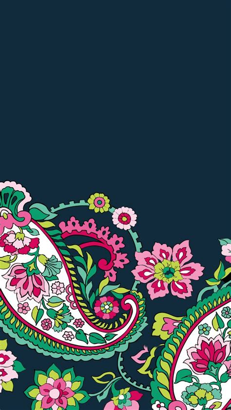paisley pattern iphone wallpaper dress your tech petal paisley mobile wallpaper vera