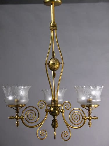 gas chandelier genuine antique lighting 3 light aesthetic gas chandelier