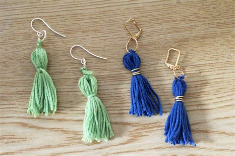 how to make tassels for jewelry diy tassel earrings and crafters