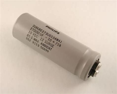 philips capacitor 3186 3186be273u010ama1 philips capacitor 27 000uf 10v aluminum electrolytic large can computer grade