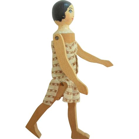 doll wooden pomona wooden doll c1920 from theluckyblackcat on ruby