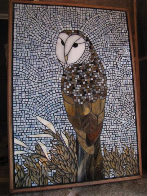 mosaic pattern owl stained glass owl mosaic delphi artist gallery