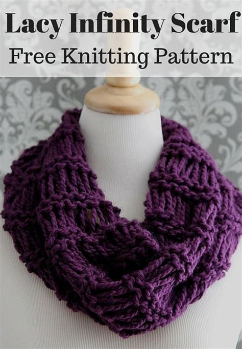 knitting pattern for infinity scarf lacy plum infinity scarf allfreeknitting