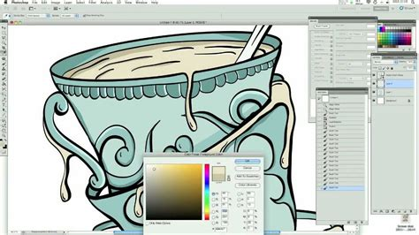 tutorial wacom intuos draw tea illustration vector speed art wacom tablet tutorial