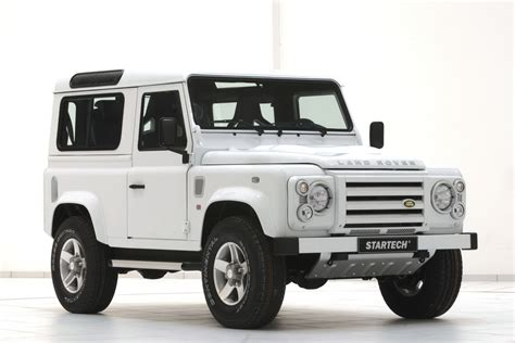 white land rover defender 90 startech land rover defender 90 yacht edition car tuning
