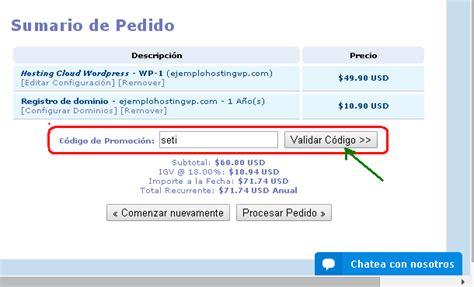 base de conocimientos como introducir el codigo de hosting wordpress con 50 de descuento en setiembre