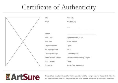 certificate of authenticity photography template sle certificate of authenticity photography images