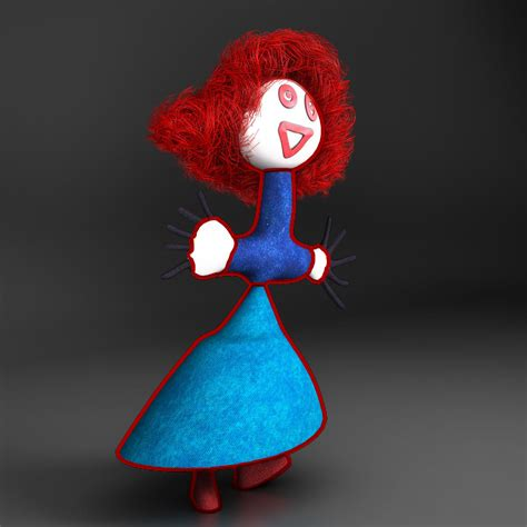 fashion doll 3d doll 3d model buy doll 3d model