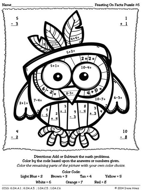 november coloring pages for kindergarten feasting on facts thanksgiving color by the number code