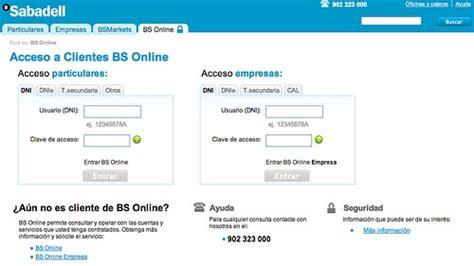 banco sabadell online particulares banco sabadell 07