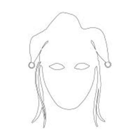 jester mask template jester masktemplate