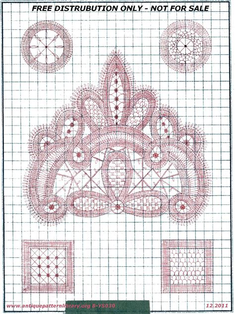 Antique Pattern Library Bobbin Lace | antique pattern library battenberg lace patterns